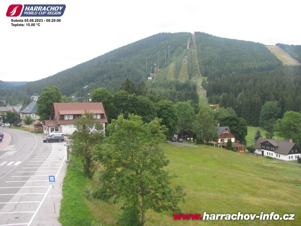 Webcam Skigebiet Harrachov Ort - Riesengebirge